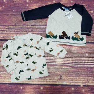 Baby Boys 2 Long Sleeve Shirts 12 month